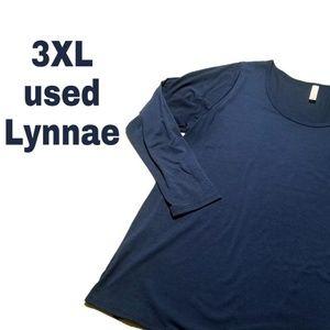 Navy long sleeve Lularoe Lynnae top